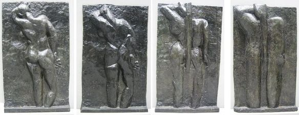 """Matisse's """"Four Backs."""" Created from left to right in: 1909, 1913, 1916, 1931."""