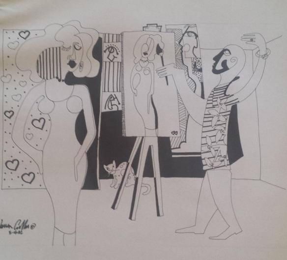 Artist, Model, Studio